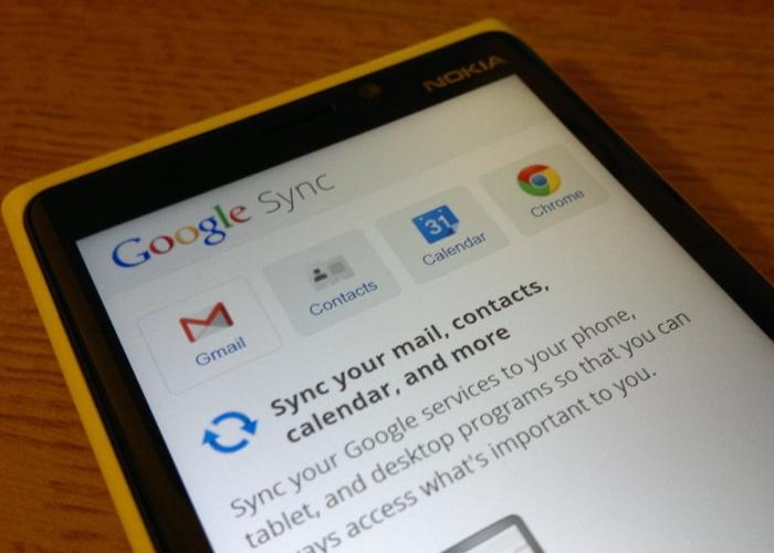 Sincronizacion windows phone google