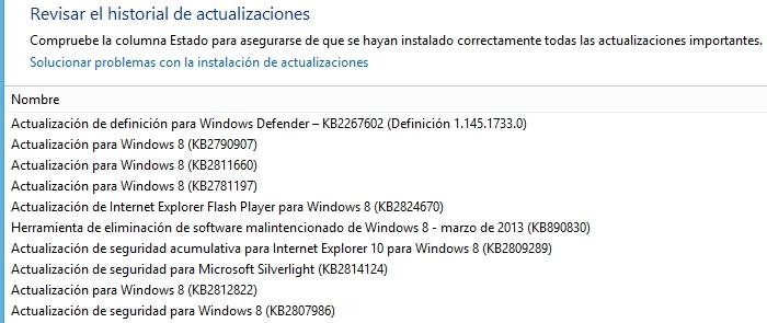 Windows Update Actualizaciones de Marzo 2013