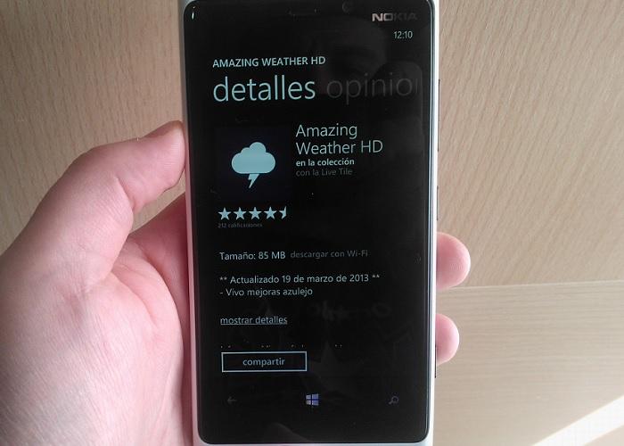 Amazing Weather HD para Windows Phone
