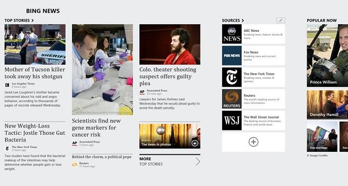 Actualización de Bing Noticias