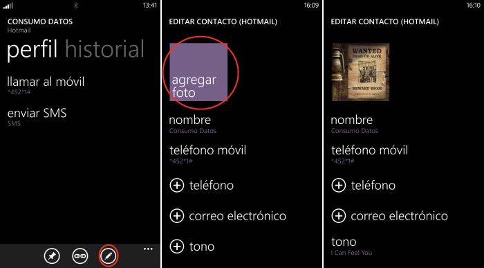configurar imagen contacto