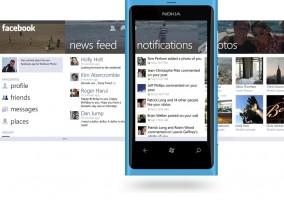 Mockup de la aplicación de Facebook para Windows Phone