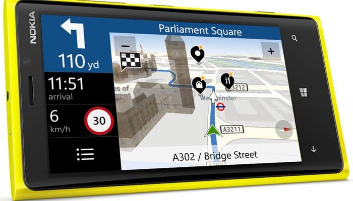 GPS off-line de Nokia