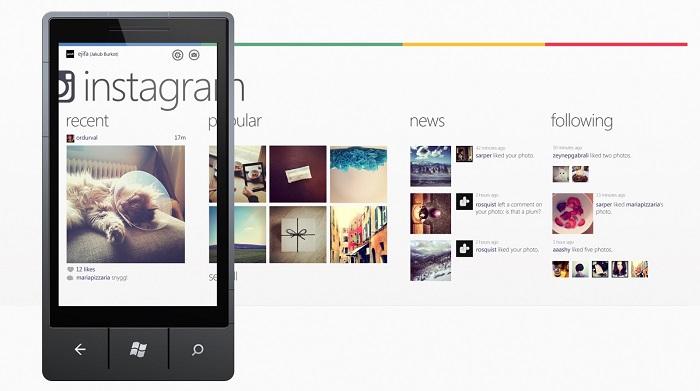 Imagen falsa de Instagram para Windows Phone