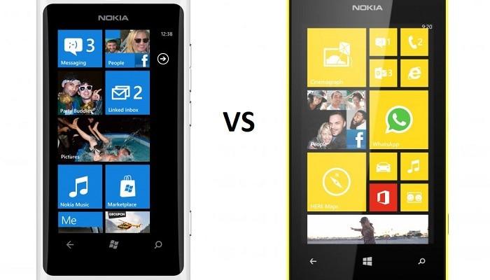Nokia Lumia 800 frenta a. Nokia Lumia 520