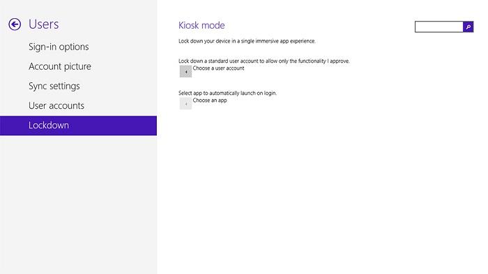 Modo Kiosco de Windows 8.1