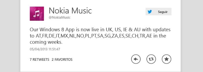 Tweet de @NokiaMusic