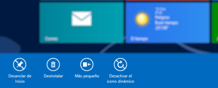 Opciones Modern UI