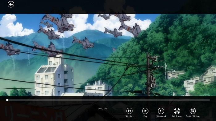 Captura del reproductor VLC con interfaz Metro