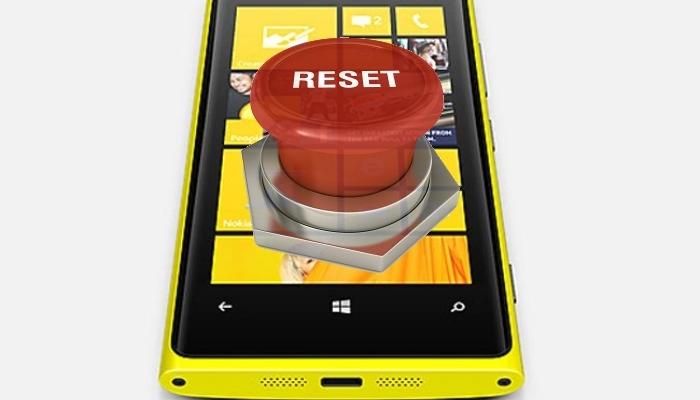 windows phone hard reset