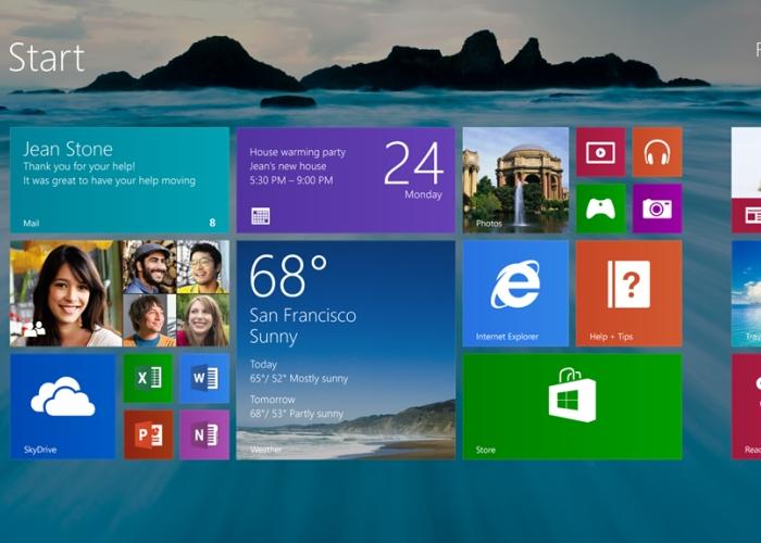 Windows 8.1 Pantalla de Inicio
