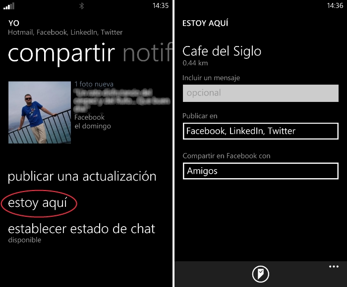 compartir localizacion windows phone
