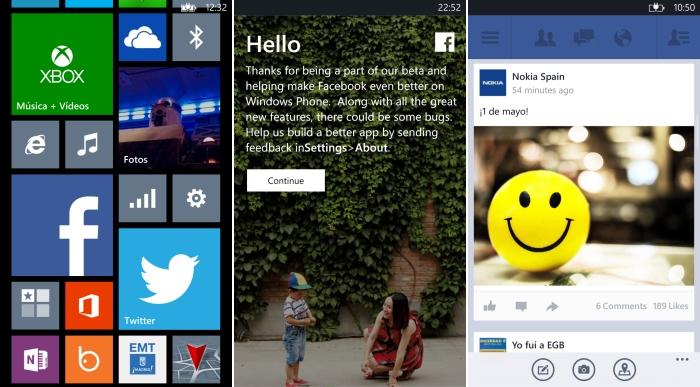 windows phone facebook beta