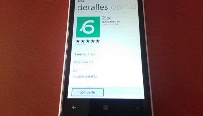 6Sec para Windows Phone