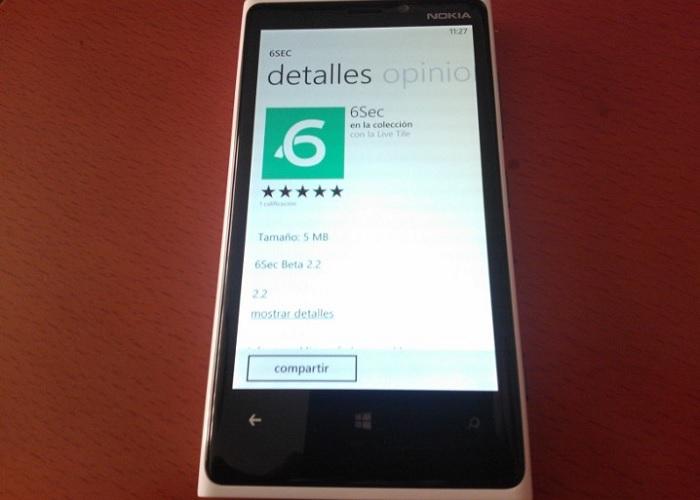 6Sec para Windows Phone