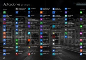 Menu Inicio con todas las aplicaciones windows 8 1