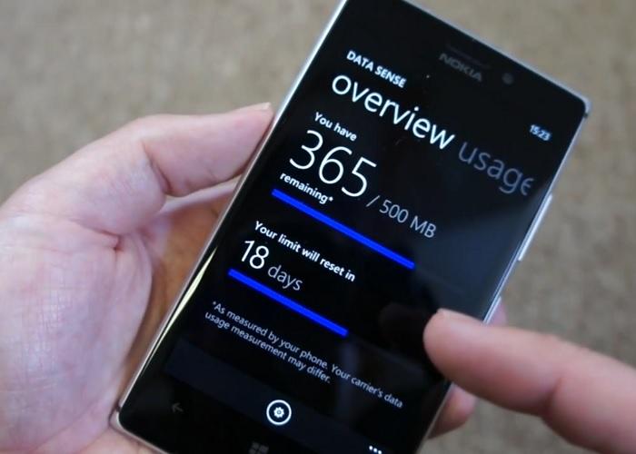 Data Sense en un Lumia 925