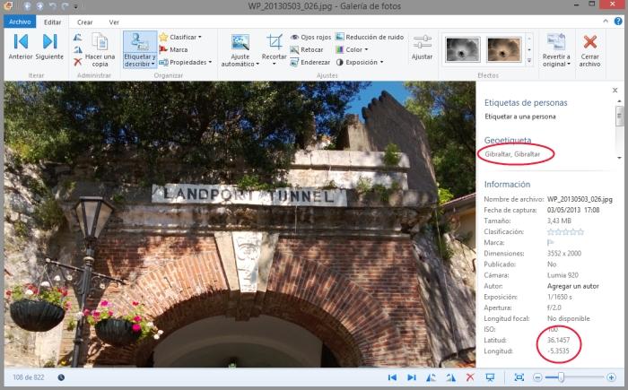 ejemplo de informacion gps en foto windows phone