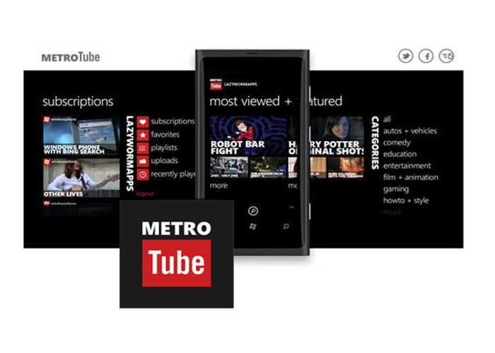 Metrotube Windows Phone