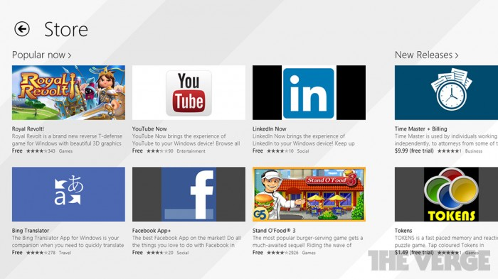 Rediseño de Windows Store
