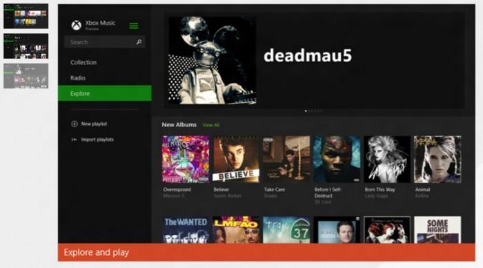 Rediseño de Xbox Music
