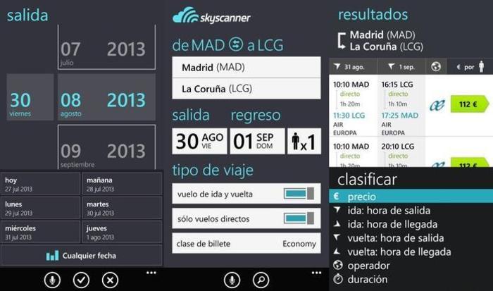 Skyscanner aplicación