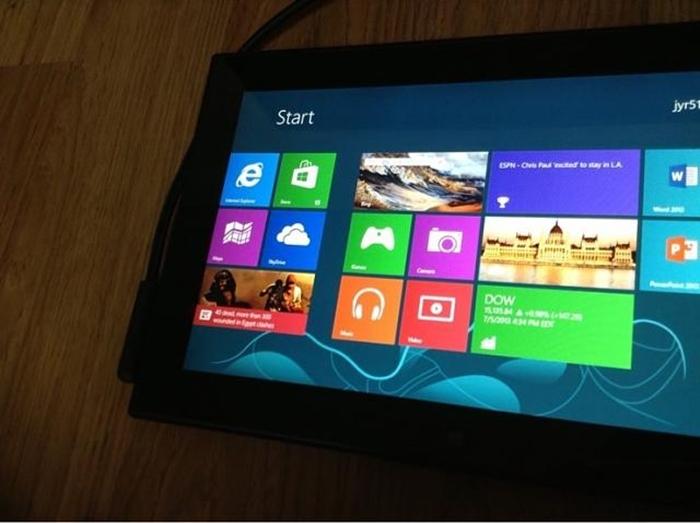 Parte delantera de la supuesta tablet de Nokia