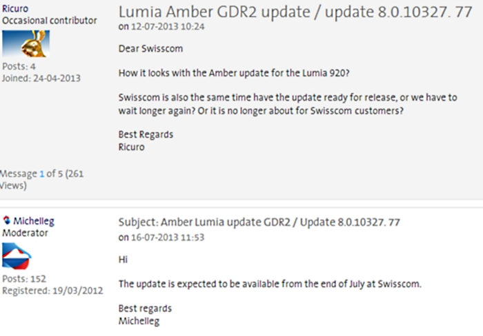 actualizacion windows phone amber swisscom julio