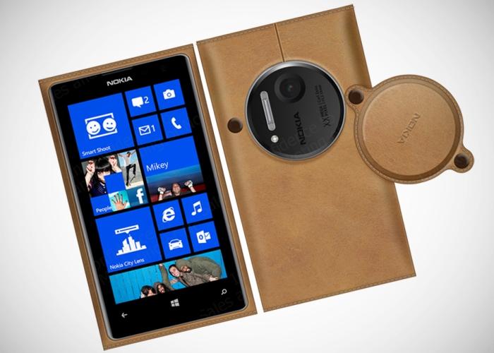 Funda de cuero Nokia Lumia 1020