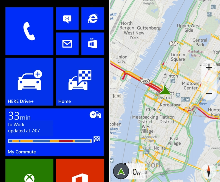 here drive+ windows phone 8 my commute