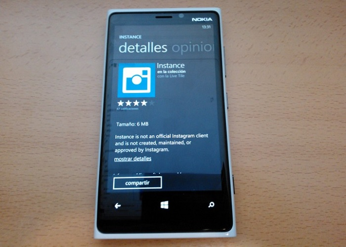 Instance para Windows Phone 8