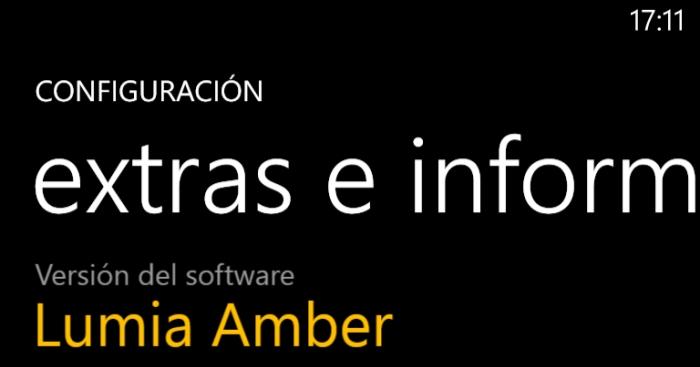 Detalles del Nokia Lumia 925 con el software Amber