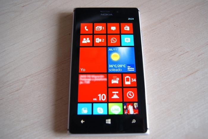 Gran calidad de pantalla de nokia lumia 925