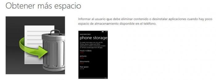 HTC Obtener más espacio