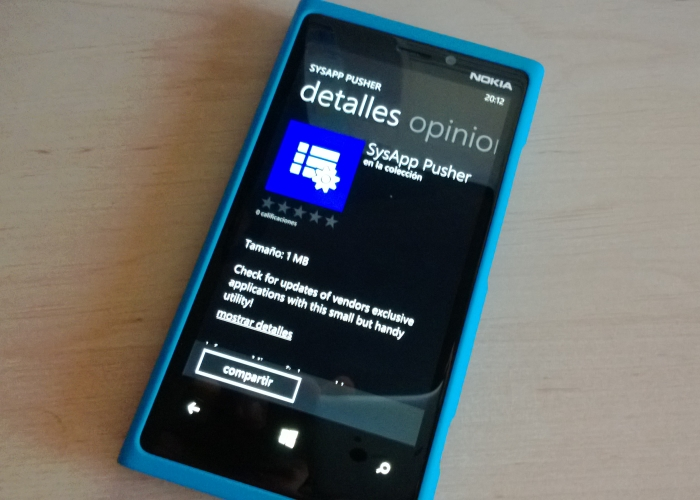 sysapp pusher windows phone 8
