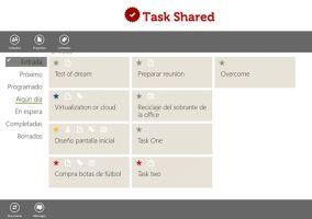 Task Shared, aplicación de productividad y organización personal para Windows 8
