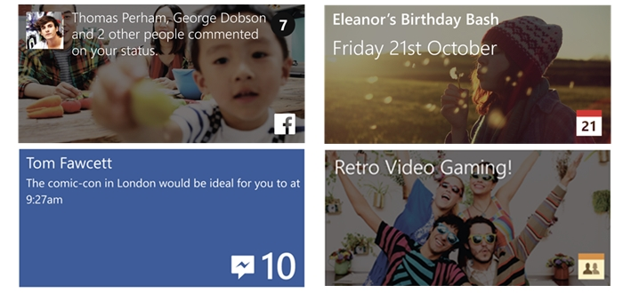 facebook beta live tile