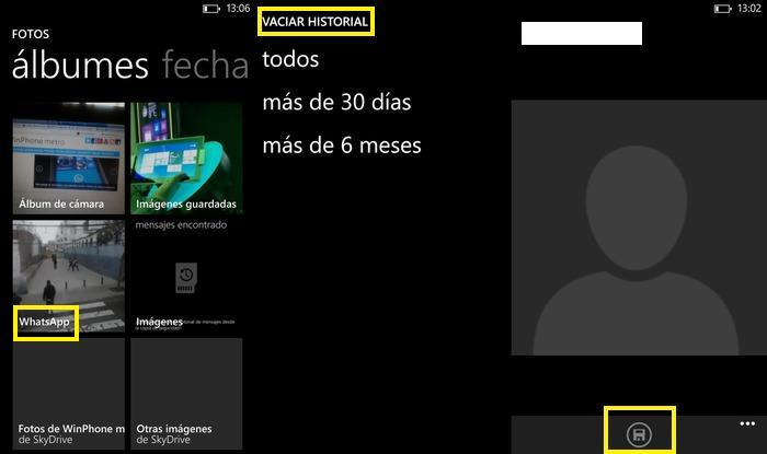 Aplicación WhatsApp Capturas