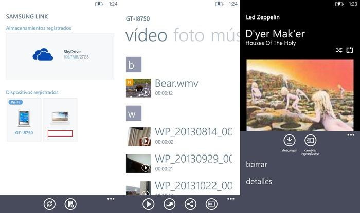 Capturas Samsung Link