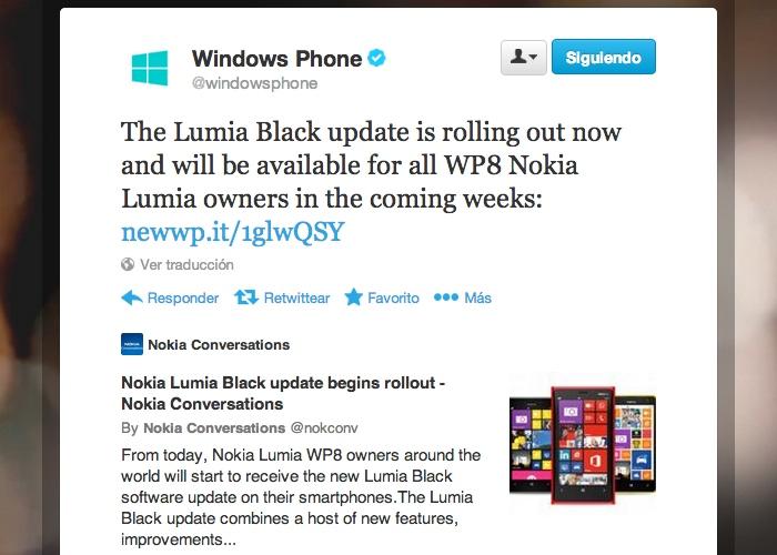 Nokia Lumia Black anuncio oficial