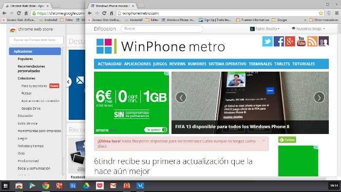 Chrome OS sobre Windows 8