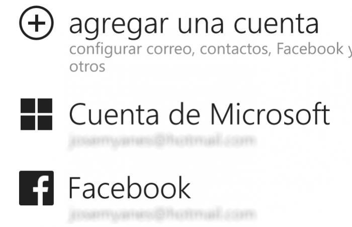 cuentas windows phone