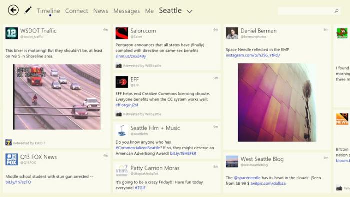 Captura de pantalla de Tweetium