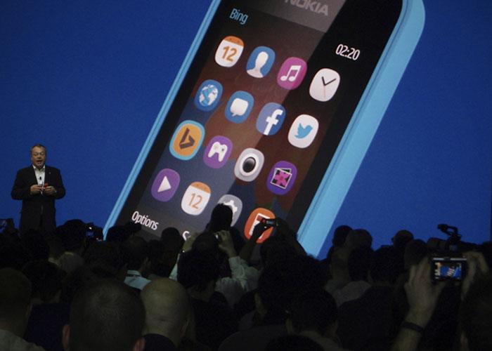 Imagen de la presetnación del Nokia Asha 220