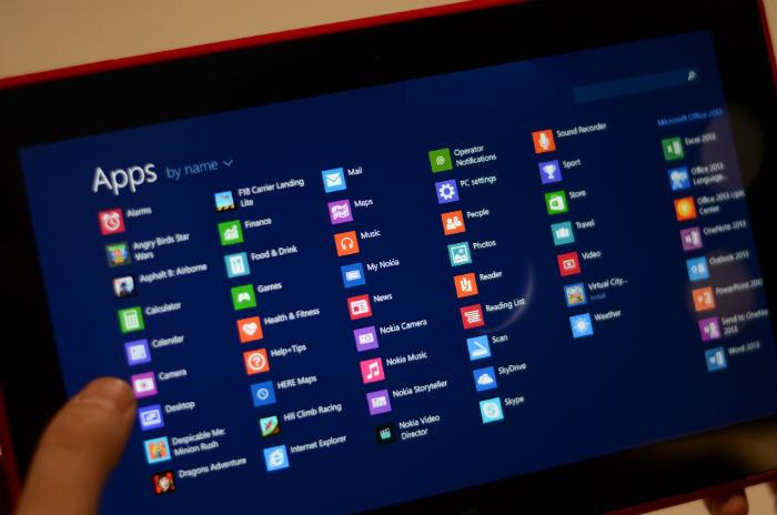 Nokia Lumia 2520 pantalla