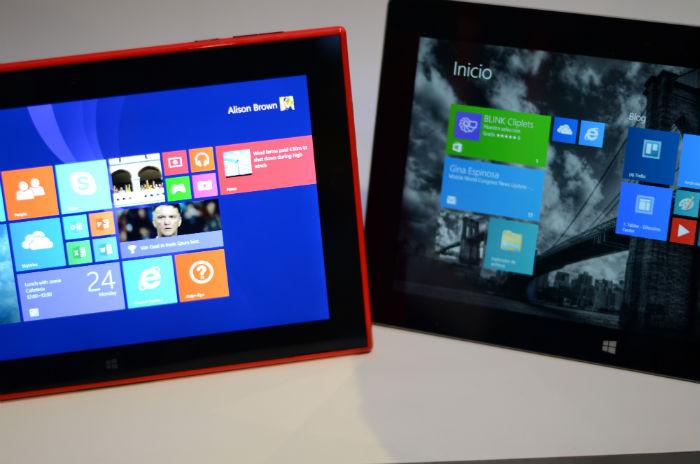 Surface 2 vs Lumia 2520