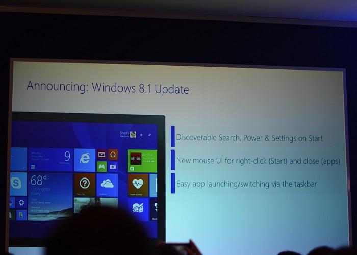 Windows 8.1 Update 1 anunciado