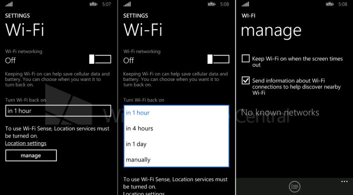 Conectividad Wi-Fi en Windows Phone 8.1