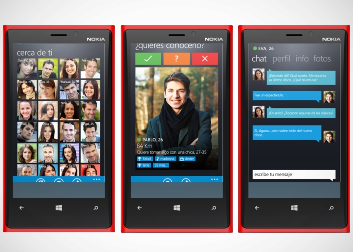 2c9f5a5d88ee4 Aplicación en Windows Phone para conocer gente