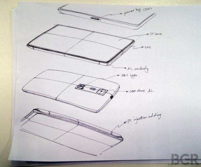 Boceto OnePlus One diseño